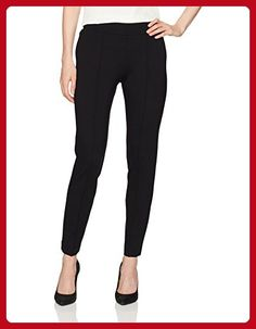 Shermineh Faux Leather Detail Ponte Pant