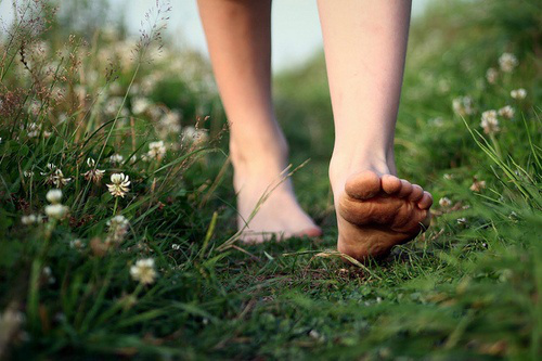 Walk or run barefoot on the earth